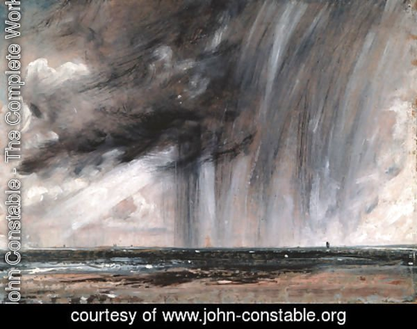 John Constable - Rainstorm over the Sea, c.1824-28