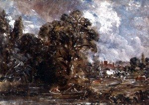 John Constable - A Farmhouse near the water's edge