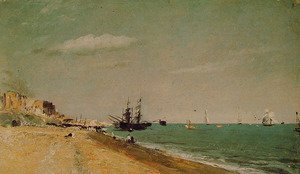 John Constable - Brighton Beach with colliers, 1824