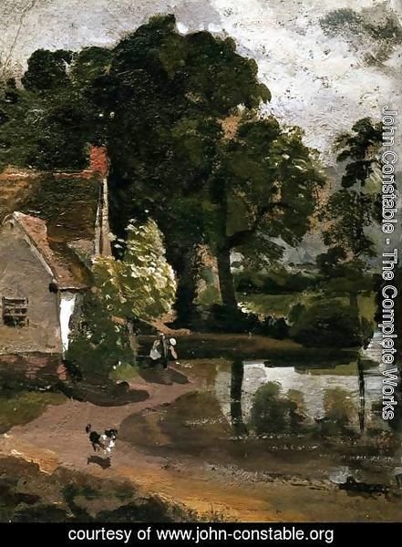 John Constable - Willy Lott's House, near Flatford Mill, c.1811