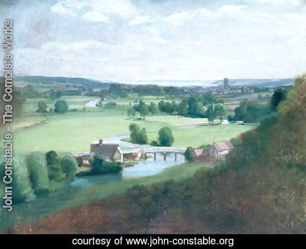 The Valley of the Stour with Dedham in the Distance, 1836-37