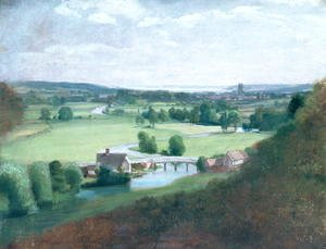 John Constable - The Valley of the Stour with Dedham in the Distance, 1836-37