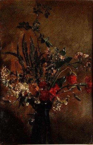 John Constable - Study of Flowers in a Hyacinth Glass, 1814