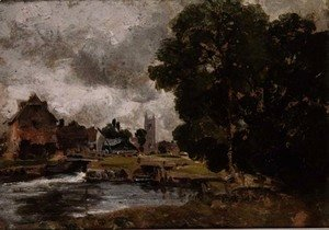 John Constable - Dedham Lock and Mill