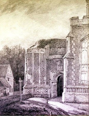John Constable - South Archway of the ruined tower of East Bergholt Church
