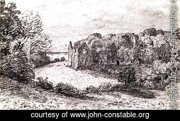 John Constable - Netley Abbey,1888