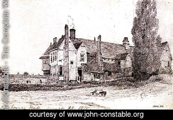 John Constable - Overbury Hall, Suffolk, 1815