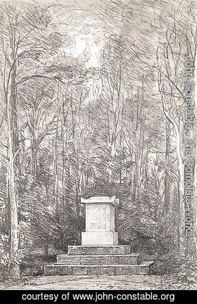 Cenotaph to Sir Joshua Reynolds at Coleorton Hall, Leicestershire, 1823