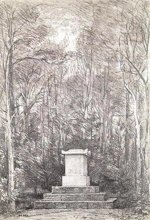 John Constable - Cenotaph to Sir Joshua Reynolds at Coleorton Hall, Leicestershire, 1823