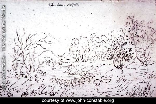 Landscape with a stream at Wenham