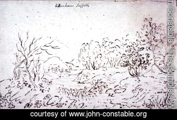 John Constable - Landscape with a stream at Wenham