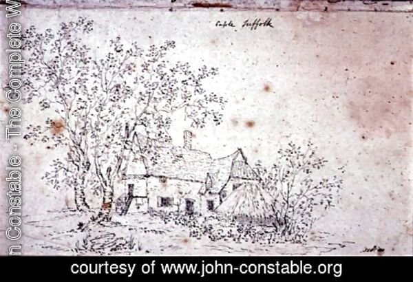 John Constable - Cottage at Caple, Suffolk