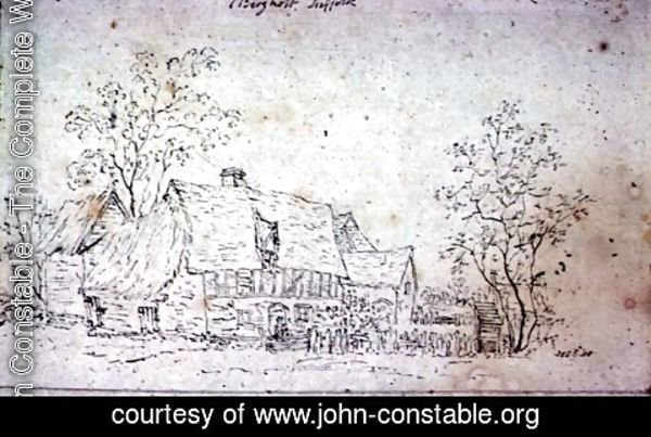 John Constable - Cottage at East Bergholt 2