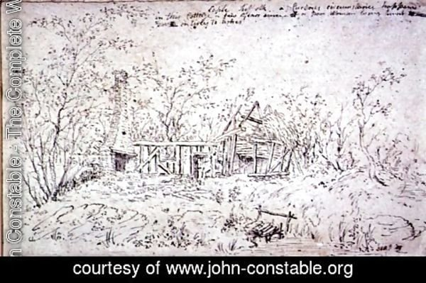 John Constable - Cottage at East Bergholt 3