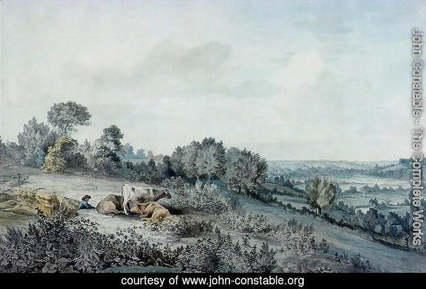 The Valley of the Stour, looking towards East Bergholt, 1880