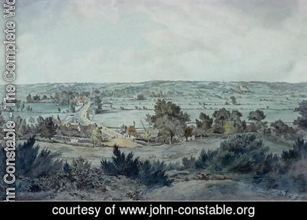 John Constable - The Valley of the Stour, with Stratford St.Mary in the distance