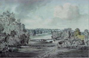 John Constable - The Valley of the Stour, with Langham church in the distance