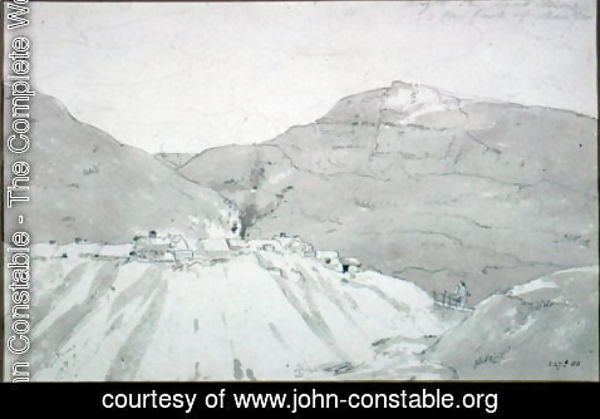 John Constable - A Lead Mine at the Foot of Mam Tor