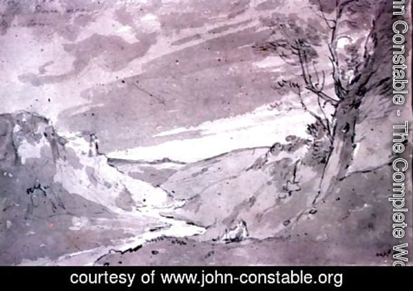 John Constable - On the Dove near Buxton
