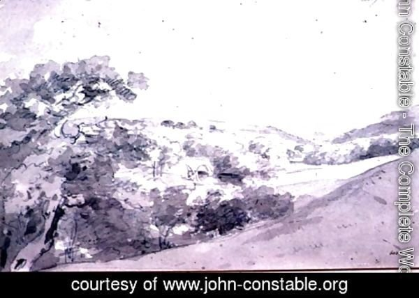John Constable - Chatsworth Park