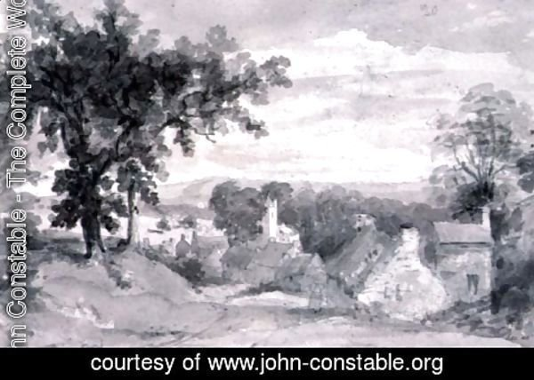 John Constable - The Entrance to the Village of Edensor