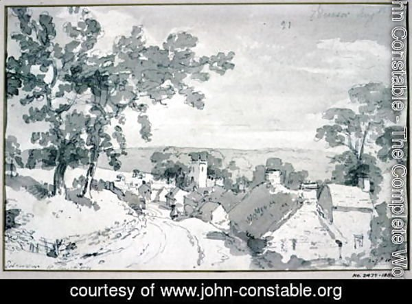 John Constable - The Entrance to the Village of Edensor 2
