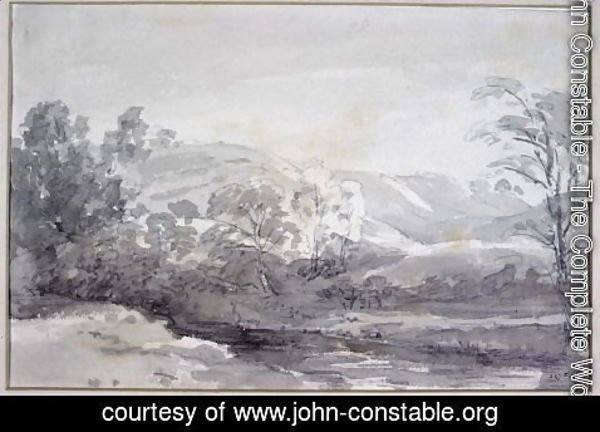 John Constable - A View in Derbyshire