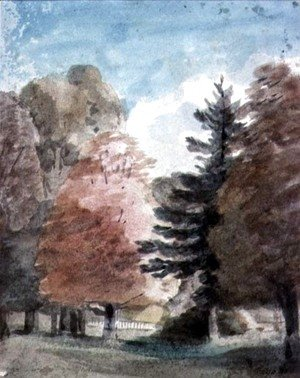 John Constable - Study of Trees in a Park