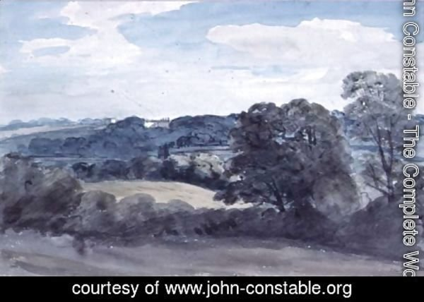 John Constable - Landscape with Buildings in the distance