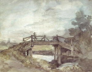 John Constable - A Bridge over the Stour