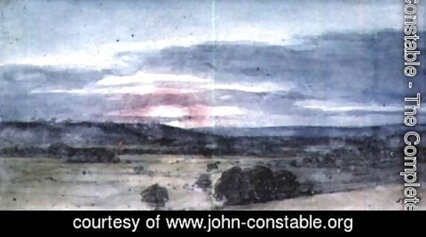 John Constable - Dedham Vale from East Bergholt Sunset