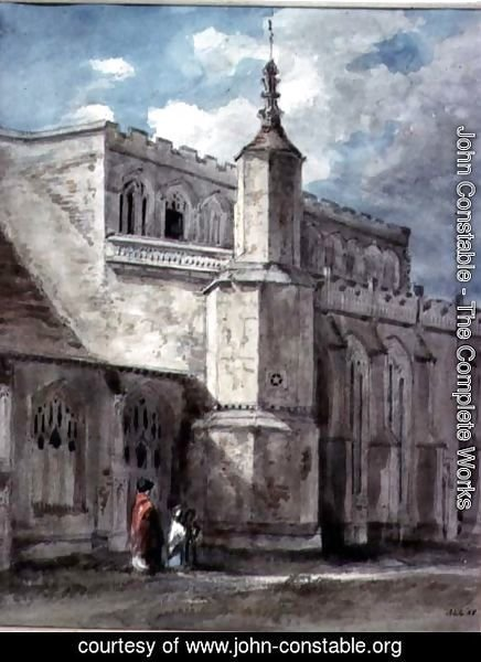 John Constable - Part of the Exterior of East Bergholt Church The North Side