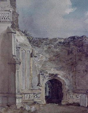 John Constable - East Bergholt Church: North Archway of the Ruined Tower