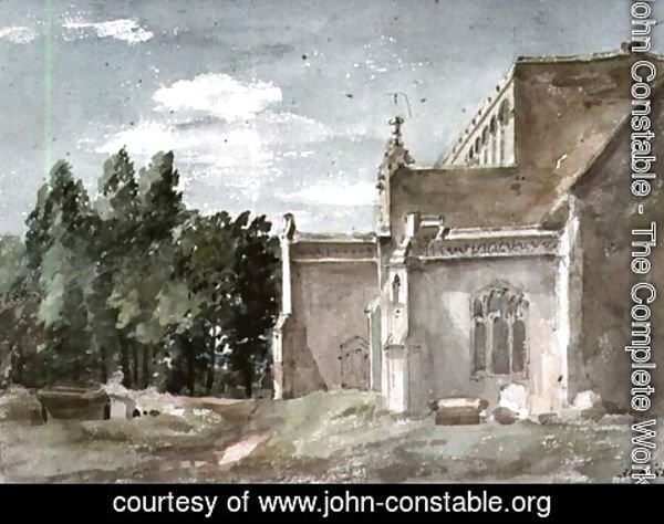 John Constable - East Bergholt Church: View from the East