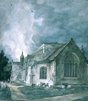 John Constable - East Bergholt Church  Exterior