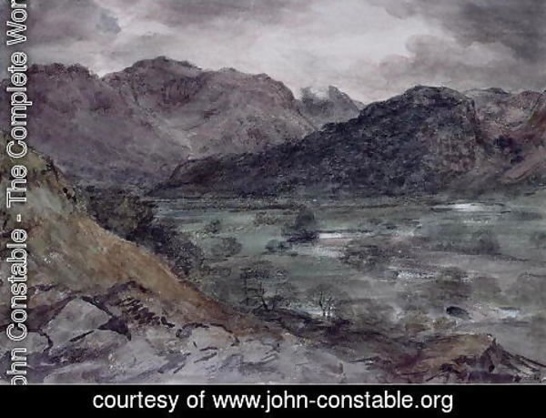 John Constable - View in Borrowdale