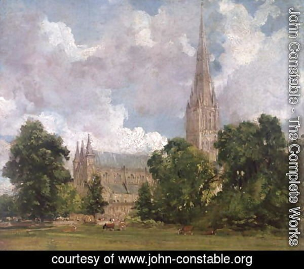 John Constable - Salisbury Cathedral from the south west