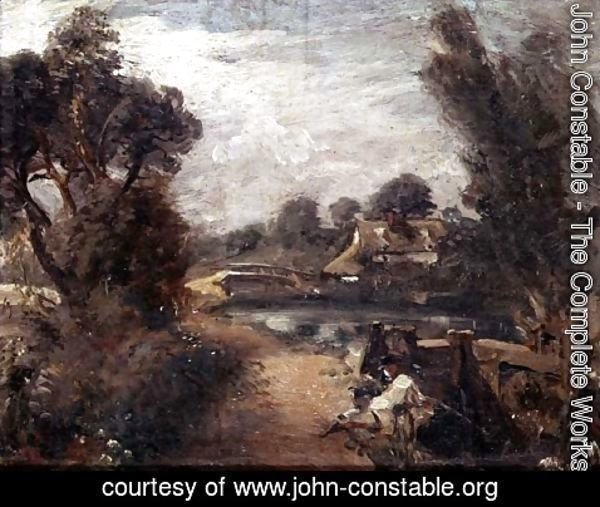 John Constable - Lock on the Stour