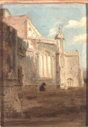 John Constable - East Bergholt Church 2