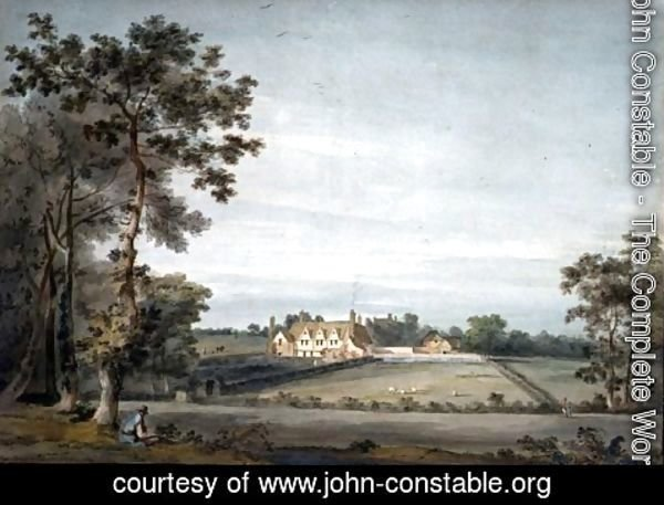 John Constable - Dedham  The Old Lecture House seen across Long Meadow from Black Brook