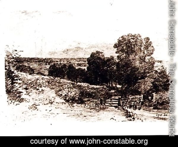 John Constable - Sketch for the Painting Entrance to Fen Lane