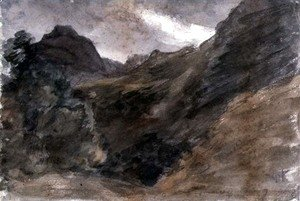 John Constable - Eagle Crag, Borrowdale, 1806