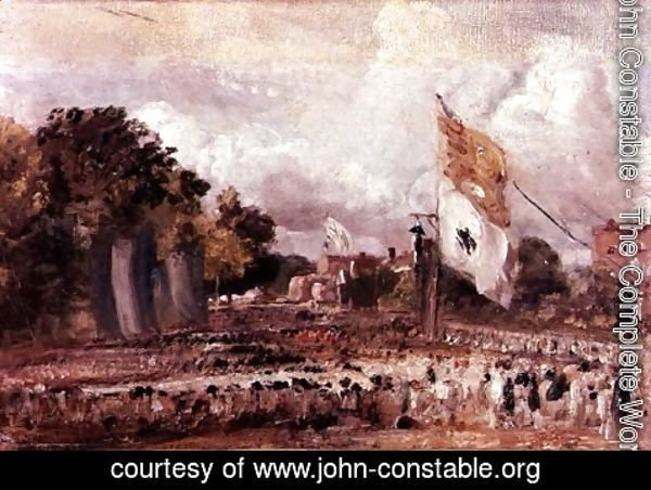 John Constable - Waterloo Feast at East Bergholt