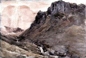 John Constable - Eagle Crag, Borrowdale, 1806 2