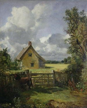 John Constable - Cottage in a Cornfield, 1833