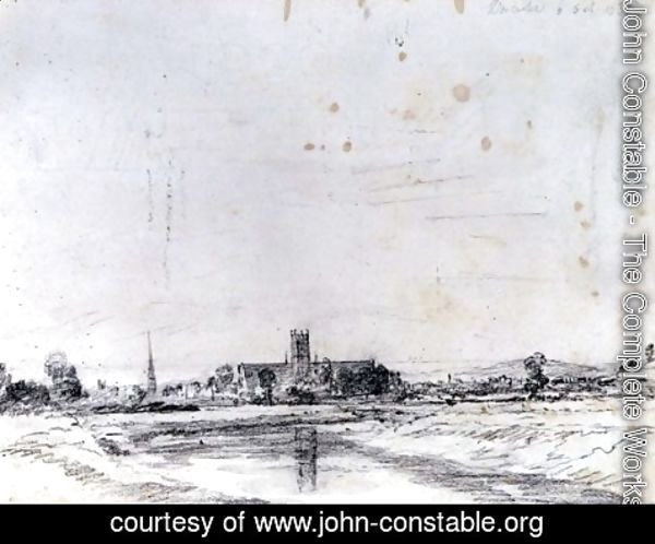 John Constable - Worcester Cathedral from the South