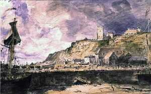 John Constable - Folkestone Harbour, 1833