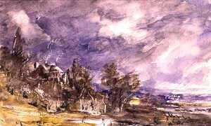 John Constable - Hampstead Heath from near Well Walk, 1834