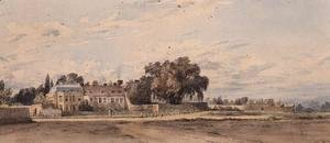 John Constable - Houses at Putney Heath, 1818