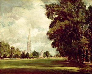 John Constable - Salisbury Cathedral from Lower Marsh Close, 1820